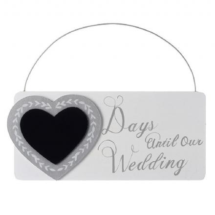 50% OFF Countdown Sign - Days Until Our Wedding